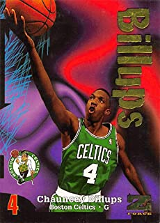 1997-98 Z-Force Basketball #179 Chauncey Billups RC Rookie Card Boston Celtics Official NBA Trading Card From Fleer Skybox