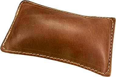 """4 1/4"""" x 2 1/4"""" Rectangular Shot Filled Leather (Map) Paperweight"""