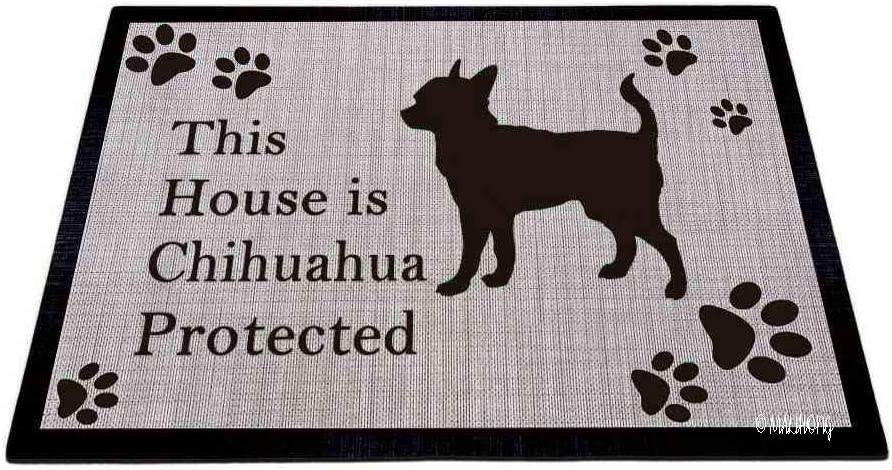 MALIHONG Chicago Mall Dog Silhouette DoorFloor Mat Chihuahua This is Pr Year-end gift House
