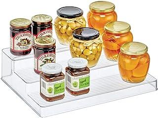 mDesign présentoir à épices pratique à 3 niveaux – étagère à épices en plastique – organiseur cuisine pour ranger les épic...