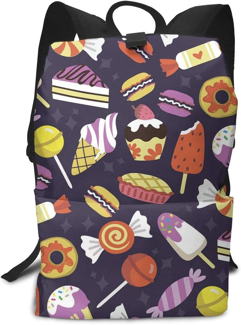KXT Candy Ice Cream Laptop Backpack,Stylish College School Backpack,Casual Daypack Backpack for Men//Women//Girls//boy//Travel