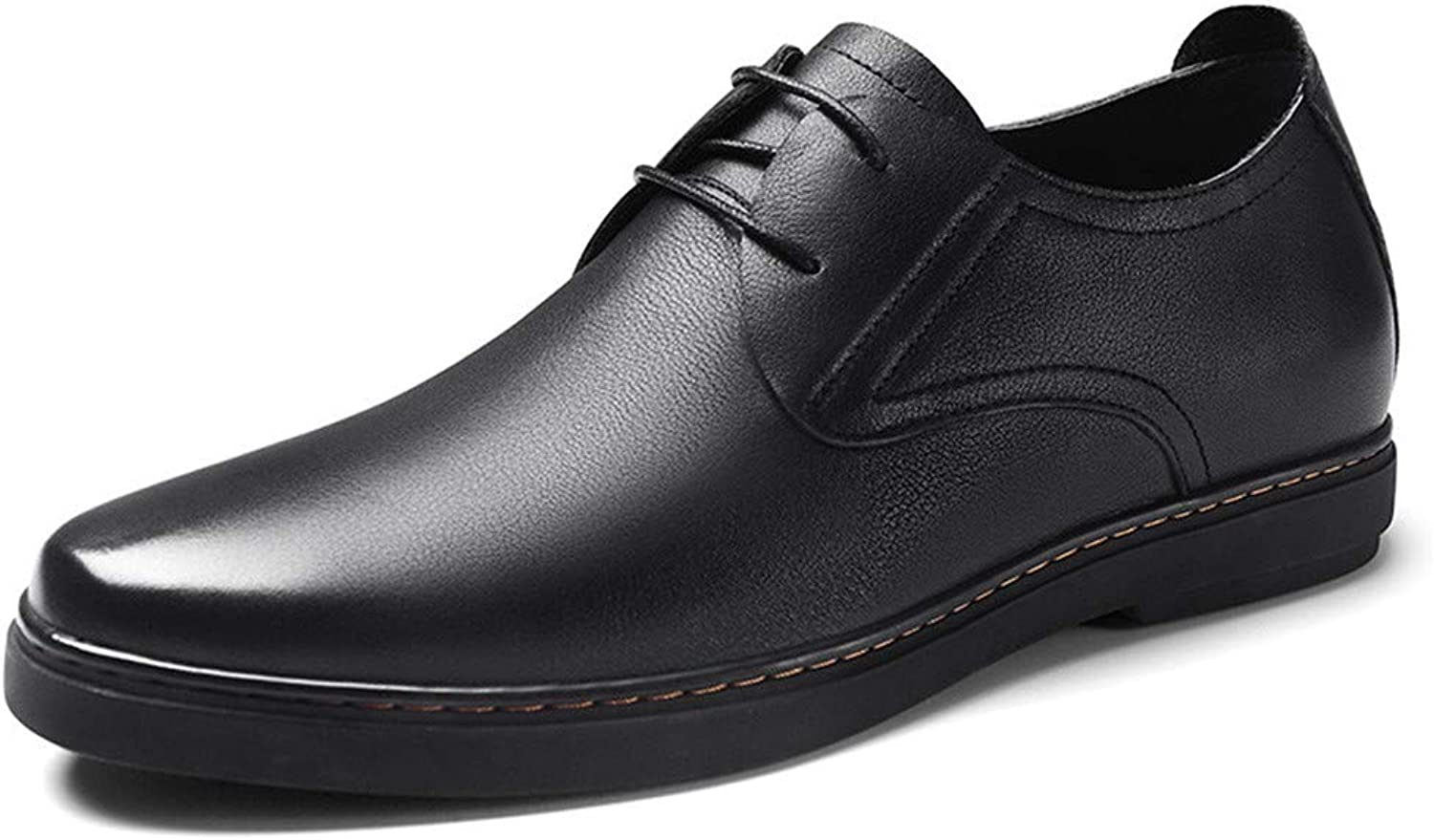 GOG Height Increasing Elevator Lace Up Derby shoes or Slip on Loafer shoes Leather