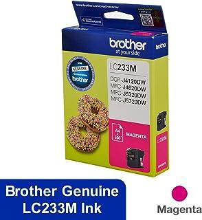 Magenta Printer Ink Cartridge LC233M Magenta Ink Cartridge for Brother DCP-J4120DW, MFC-J4620DW, MFC-J5320DW, MFC-J5720DW, Magenta, (LC233MS)