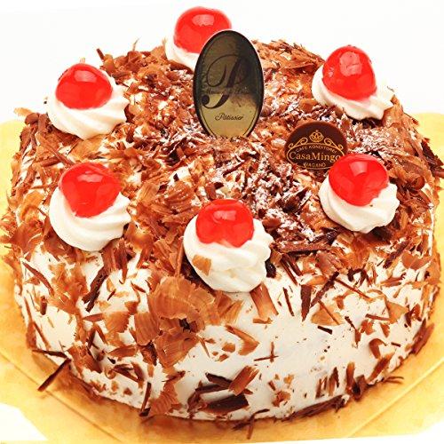 洋菓子店カサミンゴー 最高級洋菓子 シュヴァルツベルダーキルシュトルテ (誕生日プレートセット, 20cm)