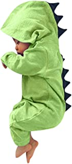 Lanhui Sunny Baby Boy Girl Dinosaur Onesie Hooded Romper Jumpsuit Long Sleeve Outfits Clothes