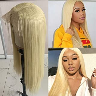 Swetcurly Glueless 13x6 Lace Front Wigs with Kanekalon Fiber 22Inch Natural Straight Hair Bloned #613 Lace Front Wigs Pre Plucked With Baby Hair For Black Women