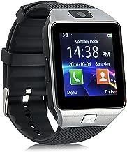 Aeifond Smart Watch - DZ09 Touchscreen Bluetooth Smartwatch Wrist Watch Fitness Tracker with Camera Pedometer SIM TF Card Slot Compatible Samsung Android iPhone iOS Kids Women Men (Silver)