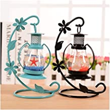 SSBHJXB Mediterranean Style Wedding Candle Holder Glass for Home Decoration Candle Holder Decoration Romantic Lamp Gift (C...