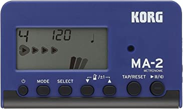 KORG MA-2 - Metrónomo digital de bolsillo con pantalla LCD, azul y negro