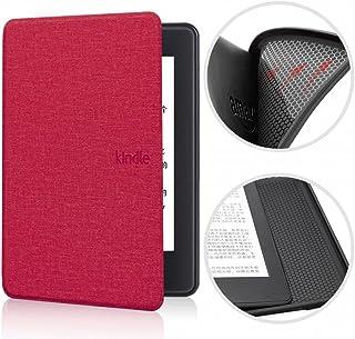 JMH Silikonowa tekstura tkaniny etui pasuje do Kindle Paperwhite (10. generacji, modele z 2018) obudowa z automatycznym bu...
