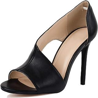 Womens High Heels Sandals Side Cutout Stiletto Open Toe Slip On D'Orsay Dress Shoes