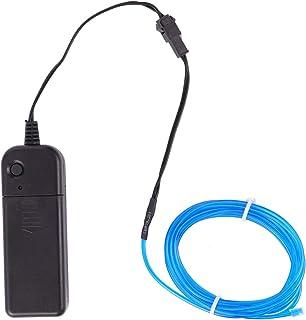 SOLUSTRE Neon LED Rope Light Flexible Tube Light El Wire Strip Light Atmosphere Lamp for Room Ceiling Bedroom Cupboard Wit...