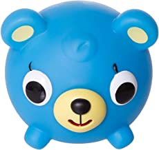 Jabber Ball Sankyo Toys Squeeze and Play Sound Ball - Neon Blue Bear
