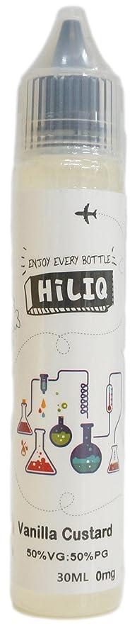 知性ゆるく頑張る電子タバコ リキッド HiLIQ(ハイリク) 30ml バニラカスタードクリーム風味