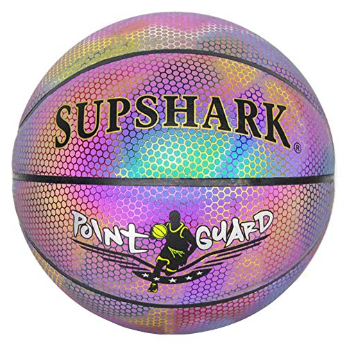 Great Deal! Jungles Light Up Basketball, Glowing Reflective Basketball, Glow in The Dark, Standard N...