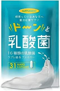 16種類 ドーンと乳酸菌 サプリメント 1粒に1000億個の 乳酸菌 ビフィズス菌 オリゴ糖 1ヶ月31粒