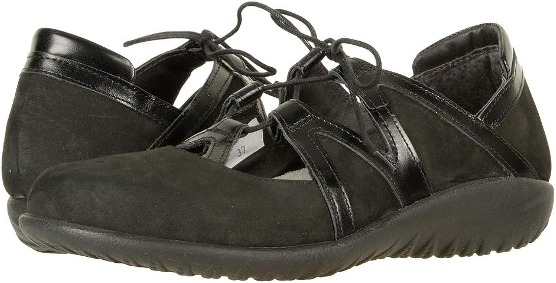Naot Women's TiMu Black Leather Nubuck