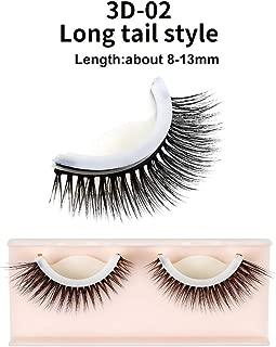 Set of 3D Eyelash Extensions False Eyelashes Makeup Tool Self-adhesive Eyes Handmade Natural Long Eye Lashes (3D-02)