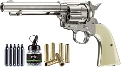 Colt Peacemaker SAA CO2 Revolver Kit, Nickel air pistol