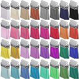 SIQUK 160 Piezas Colgantes de Borlas de Cuero Borlas de Ante Accesorios para Llavero y Bricolaje Decoración 32 Colores (Gorra de plata)