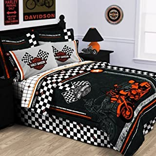 Harley-Davidson Racing Flag Pillowcase