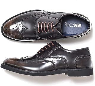 [エムエムワン] ビジネスシューズ メンズ ウイングチップ メダリオン内羽根 レースアップ 紳士靴 茶 ダークブラウンアドヴァン 42(26.0cm)