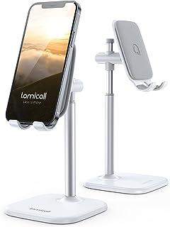 Lomicall スマホ スタンド ホルダー phone stand holder: スマートフォン ドック 携帯 ケータイ アイフォーン すたんど 充電スタンド 充電台 置き台 たてる 卓上 デスク 机 つくえ テーブル ABS樹脂 ゴム 縦...