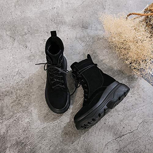 Shukun enkellaarsjes Winter Martin laarzen Women'S Platform laarzen dikke katoenen schoenen sneeuwlaarzen