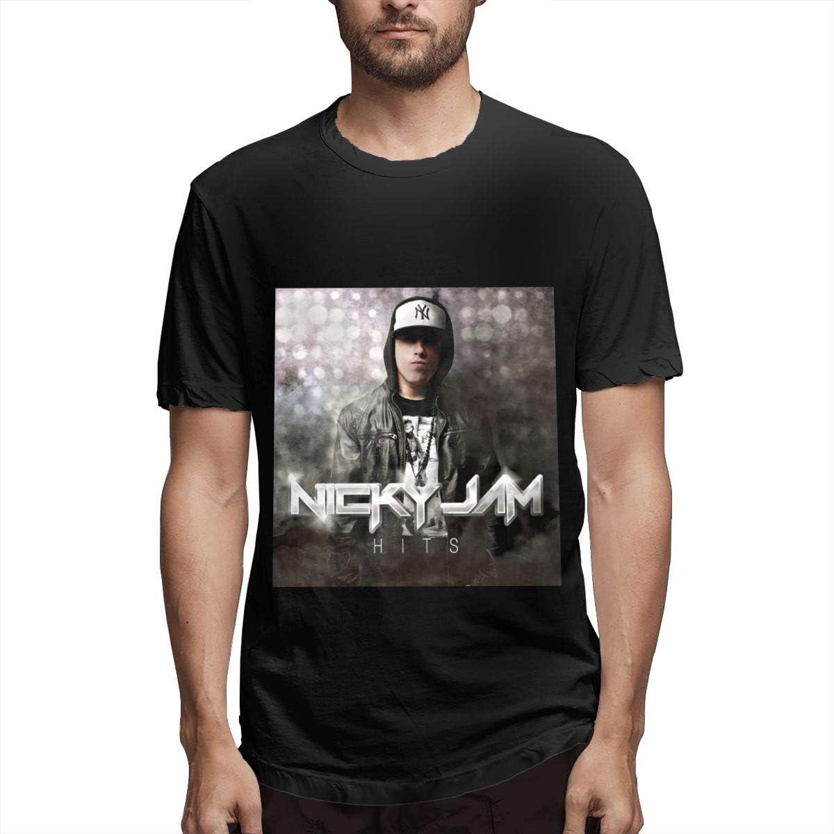 fghjfgdjhfd Camiseta de Manga Corta para Hombre,Nicky Jam ...