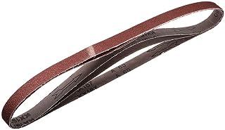 2,5 cm x 102 cm 60 slipbälte aluminiumoxid sandpappersbälten för bärbar slipmaskin träfinish metall gipsskiva slipning san...