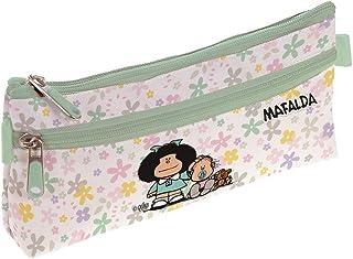 Mafalda 37540722 Colección Mafalda Estuche Escolar Plano, Modelo Flores, 23 x 10 cm: Amazon.es: Equipaje