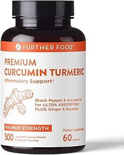 Premium Best Curcumin Turmeric Anti-Inflammatory Capsule - 500mg Premium High Potency 95% Curcumin Supplement, Black Peppe...