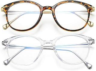 Blue Light Blocking Glasses for Women Vintage Round Anti Blue Ray Computer Game Eyeglasses