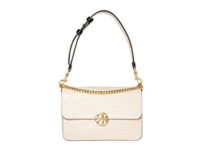 Tory Burch Chelsea Embossed Convertible Shoulder Bag (Jamaica Sand) Handbags
