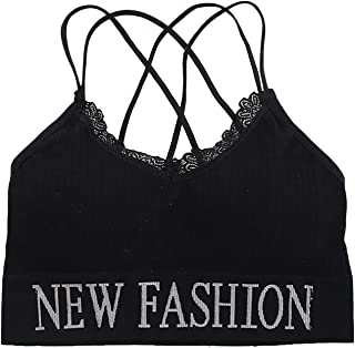 Winkey Mens Backless Lace Sports Bra Without Underwire Push Up Underwear Tube Top Classic Bra Breathable Sports Bra Yoga T...