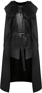 GOT Night's Watch Jon Snow Cosplay Costume Halloween Full Set Outfit Cape for Adult