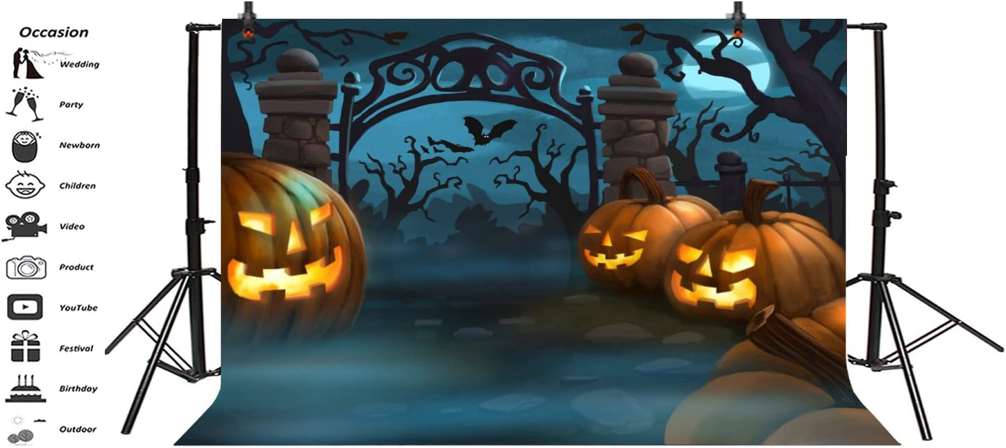 Yeele Large Halloween Party Backdrop Creepy Jack O Lanterns Photography Background Kids Adults Artistic Portrait 20x10ft Trick or Treat Events Photo Booth Photoshoot Props Wallpaper