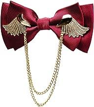 Manoble Men's Adjustable Metal Golden Wings Two Layer Neck Bowtie Bow Tie