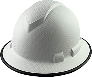 Pyramex Ridgeline Full Brim Patterned Hardhat with Protective Edge with 6 Point Suspension - Matte White Graphite Pattern