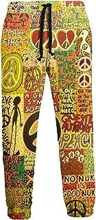 Peace Rocks Love Not War Hippie Unisex Joggers Casual Pants 3D Print Sports Trousers Men Jogging Sweatpants
