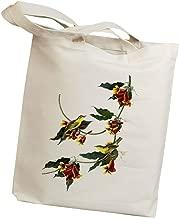 Idiopix Rathbone Warbler Bird Canvas Cotton Tote Bag - Bird Lover Ornithologist Gift