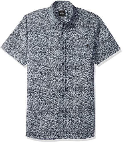 Rip Curl Hombre 324682 Manga corta Camisa de botones - Azul