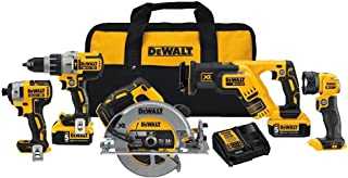 DEWALT 20V MAX XR Cordless Drill Combo Kit, Brushless, 5-Tool (DCK594P2)