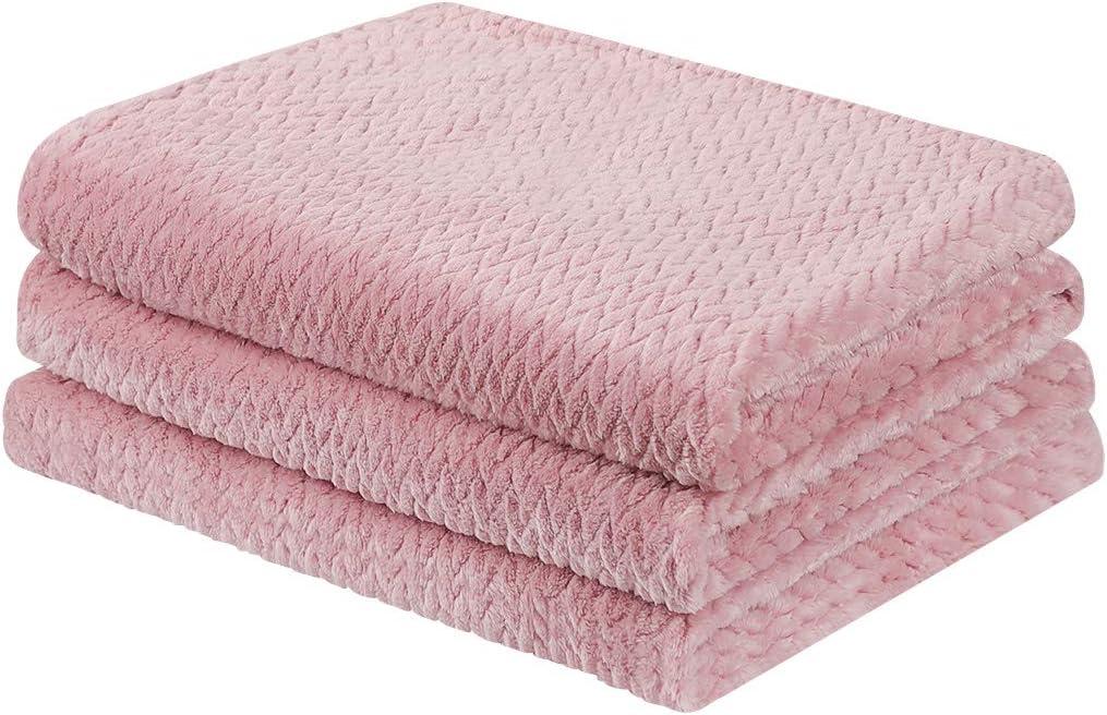 正規激安 PiccoCasa Flannel Fleece Twin Size Blanket Couch Soft Microfiber 最安値