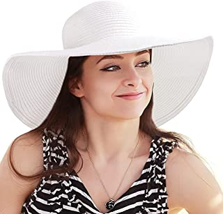 Beach Lady Hat With Small Colorful Scarf - Sea Hat - White - Women's Hat