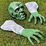 BALYWOOD Moyeenee Halloween Zombie Face and Arms Lawn Stakes, Scary Graveyard Decoration, Perfect for Indoor and Outdoor Halloween Decorations