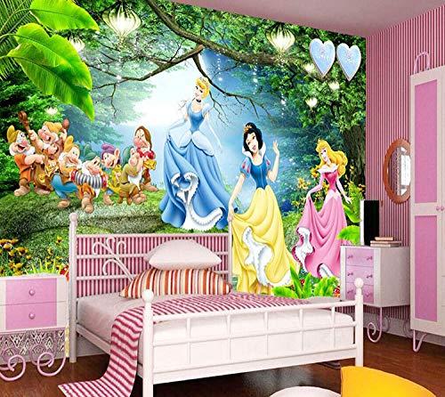 CRfres Papel pintado mural personalizado para niños 3d papel autoadhesivo Personajes de dibujos animados Anime Princess 250x175 cm (ancho x alto) Decoración de pared Calcomanía de pared Calcomanía Dec