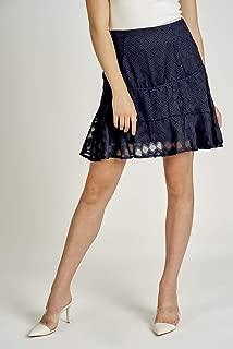 Valleygirl Textured Flare Mini Skirt (325605)