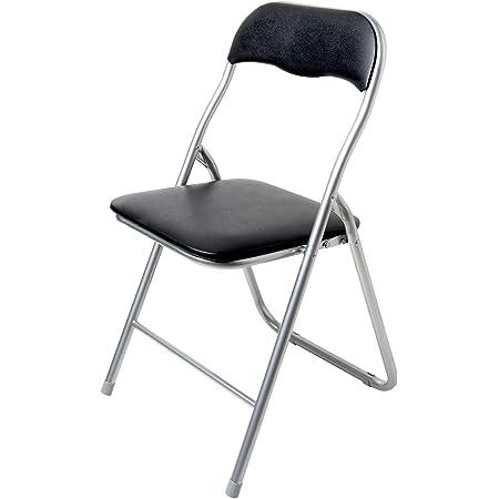 Innova Polo - Juego de 6 sillas Plegables - Medidas 43,9 x 44,5 x 78 cm - Color Negro