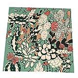 COOL-SHOW Servilletas de tela con flores de cactus reutilizables para restaurante, boda, mesa de casa, servilletas decorativas, banquetes, juego de 4 servilletas de tela suave de 50,8 x 50,8 cm